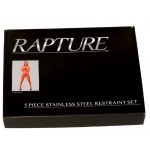 Rapture 5 Piece Stainless Steel Restraint Set Large